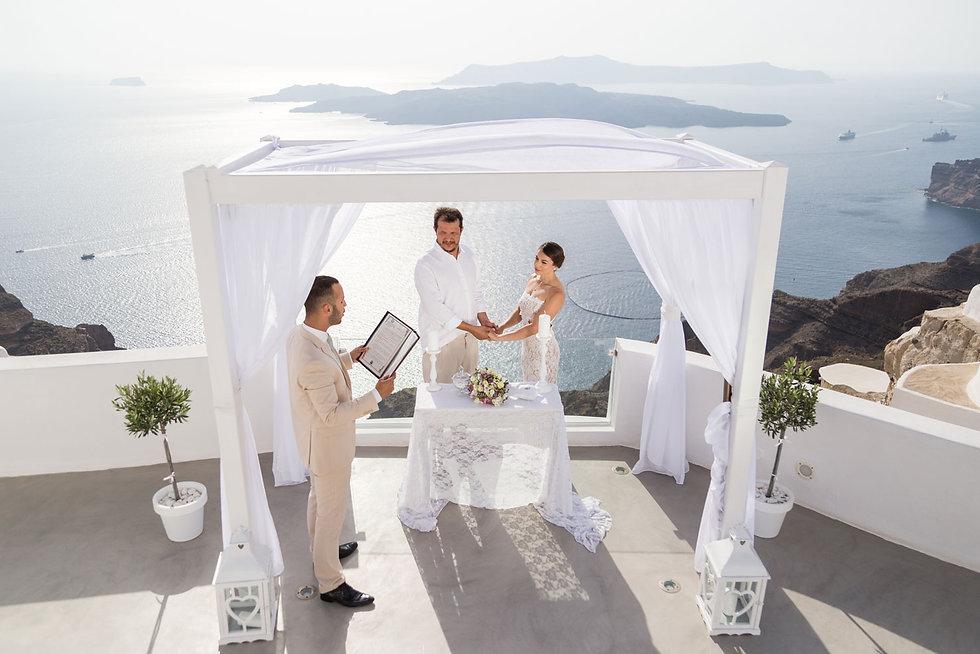 Casamento em Santorini no nosso querido e especial casal Pamela e Axel