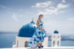 Ensaio de fotos em Santorini do lindo casal Larissa e Ítalo