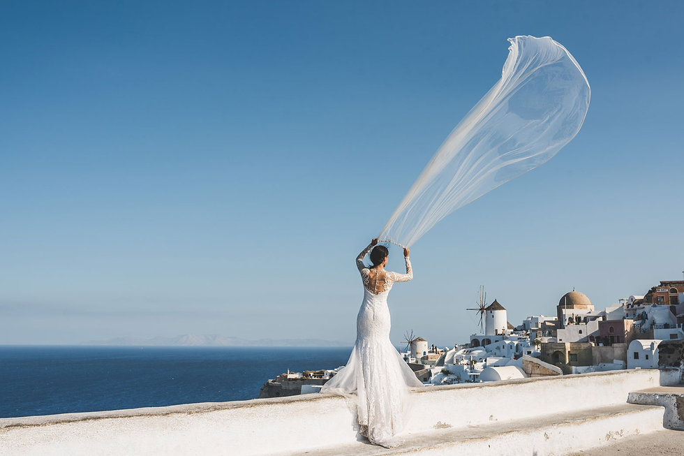 Ensaio de fotos em Santorini do nosso lindo casal Brunna e Rodrigo