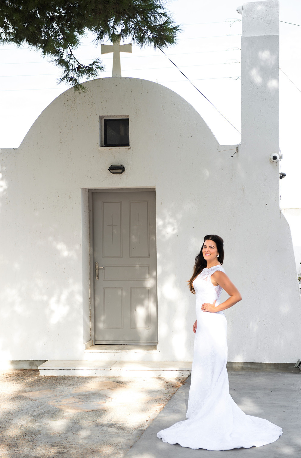 Fotos de Ben Rigas - Casamento em Santorini ensaio de noiva em Santorini