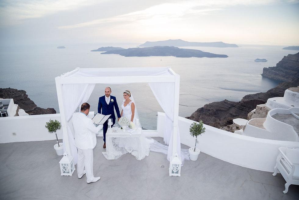 Casamento em Santorini do nosso casal super especial Vanessa e Rafael