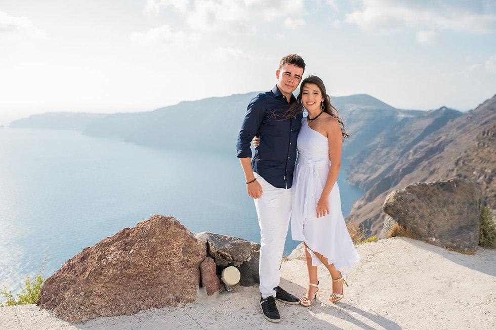Ensaio em Santorini do nosso lindo casal Juliana e André
