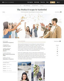 Casamento em Santorini na Mídia - Vanessa e Rafael no Aisle Planner