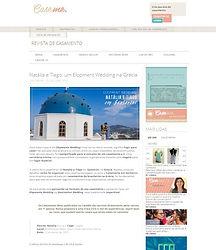 Casamento em Santorini na Mídia - Natália e Tiago na Revista Caseme