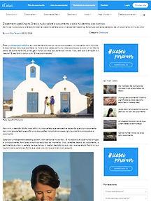 Casamento em Santorini na Mídia - Ana Elisa e Alexandre na Icasei