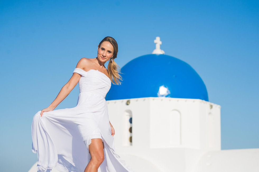 ensaio de fotos em Santorini do lindo casal Elaine e Ricardo