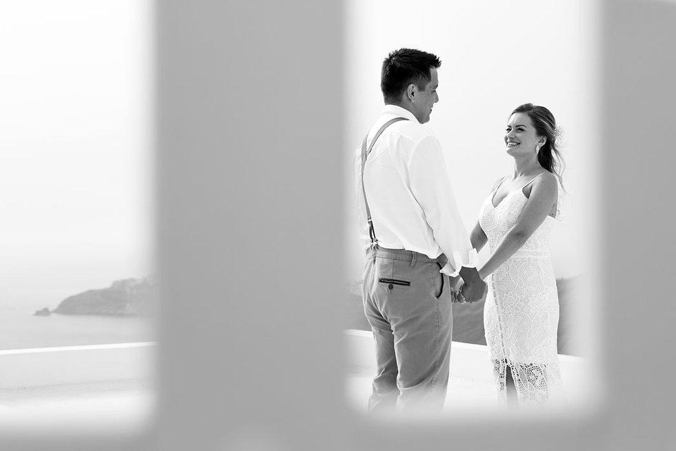 Casamento em Santorini do nosso casal super especial Tatiane e Guilherme