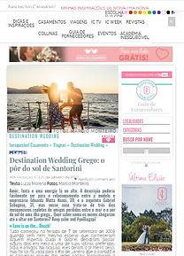 Casamento em Santorini na Mídia - Duda e Gabriel na Inesquecível Casamento
