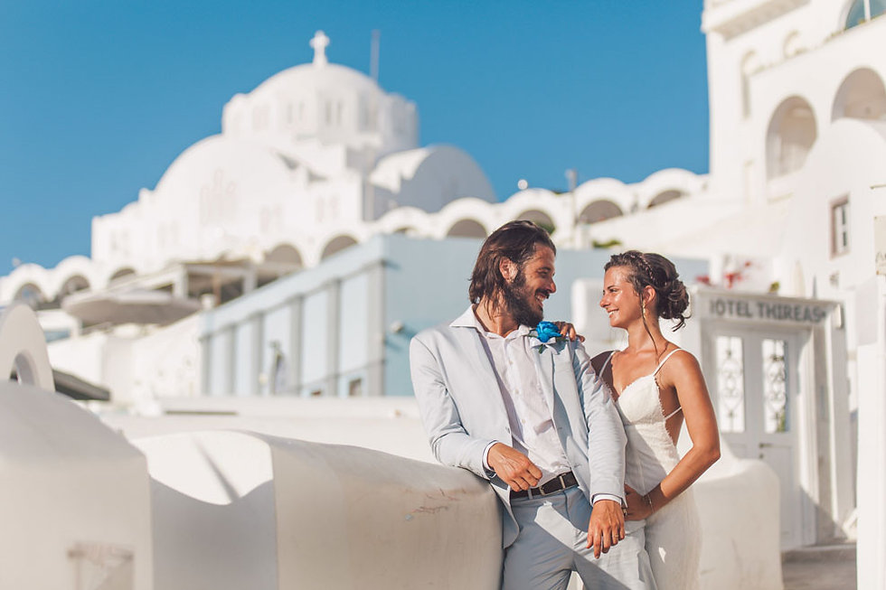 Casamento em Santorini do nosso querido casal Amanda e Vitor