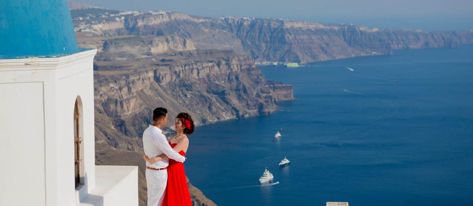 Realizando sonhos: Casamento em Santorini!