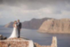 Ensaio de fotos em Santorini do lindo casal Karmel e Christophe