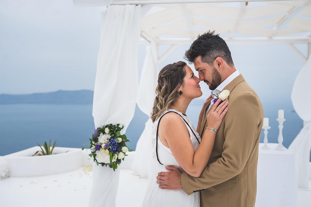 Casamento em Santorini - Monick e Hermes - Foto de Wedding Stories by Ben Rigas
