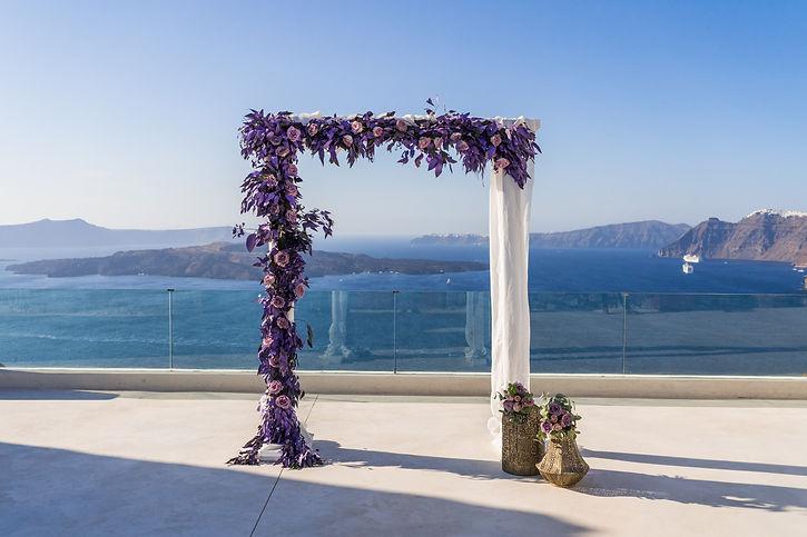 El Viento decor Casamento em Santorini.j