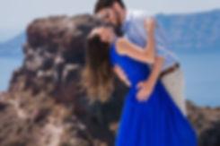 Ensaio de fotos em Santorini do nosso lindo casal Bianca e Cícero