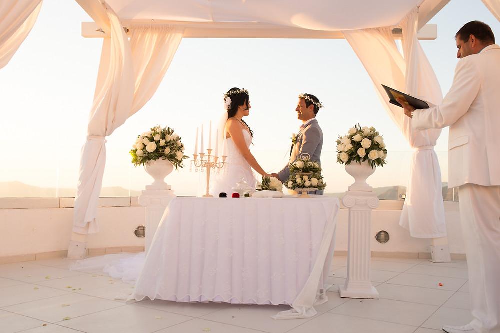 casamento em Santorini cerimônia