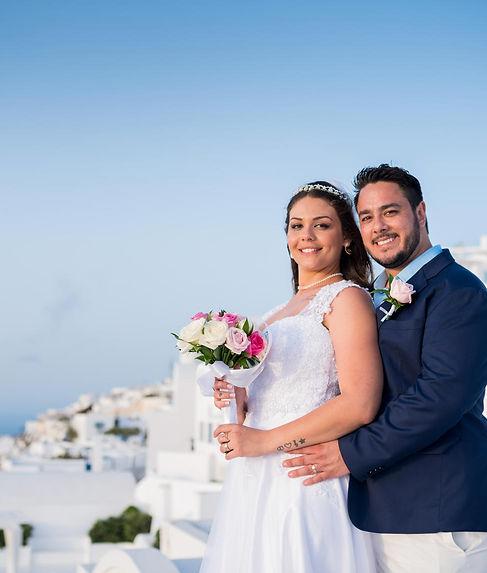 Casamento em Santorini do nosso casal super especial Evelin e Nildo