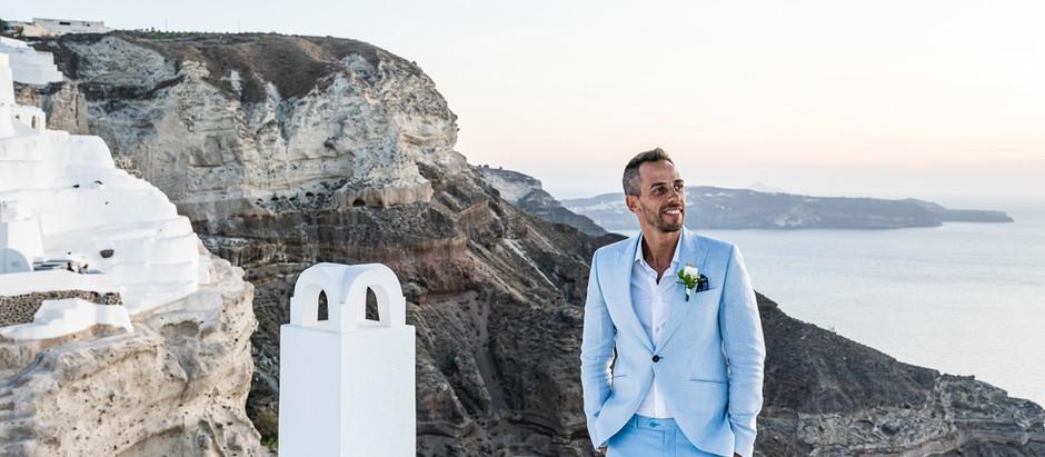 Diário de um noivo em Santorini