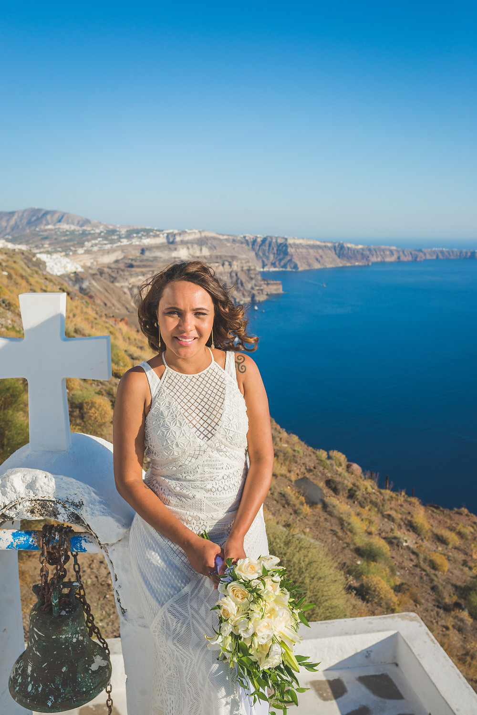 vestido de noiva casamento santorini