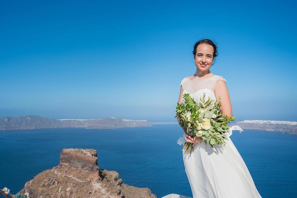 Ensaio de fotos em Santorini do noss querido casal Mariana e Stefanos