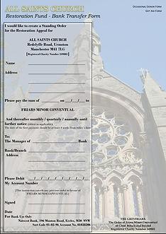 4. Restoration Fund - Bank Transfer Form