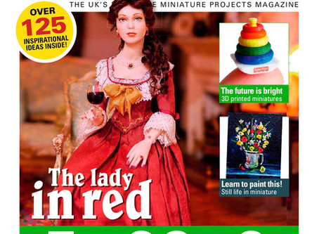 Big article in Dollhouse & Miniature Scene Magazine of June 2019!