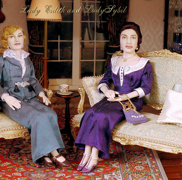 Lady Edith and Lady Sybil