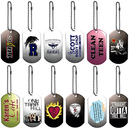 ONE TREE HILL Collectors Dog Tag Keychains