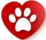 paw-print-over-heart-shape-vector-740675