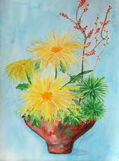 Chrysanthemen in Vase
