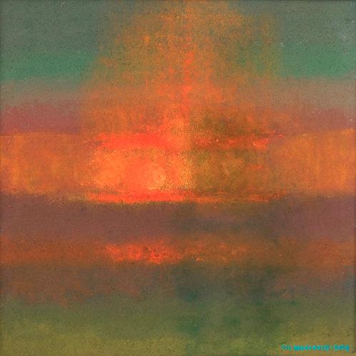 """Reproduksjon u/ramme - """"Sommer"""" av Oscar Bodøgaard"""