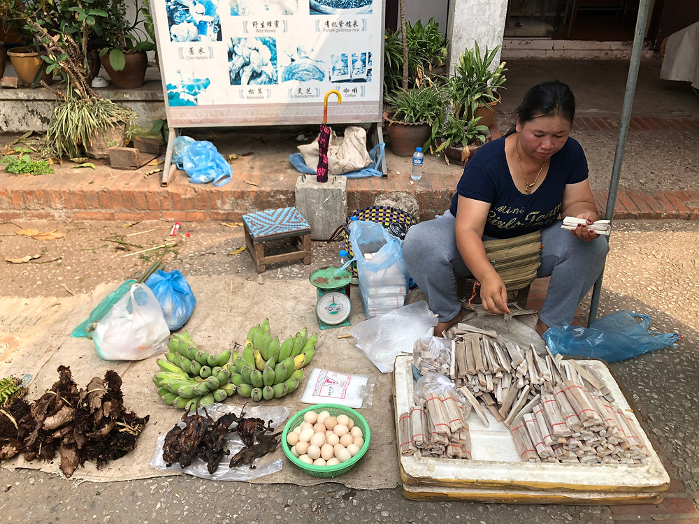 buffalo skin morning market laos luang prabang