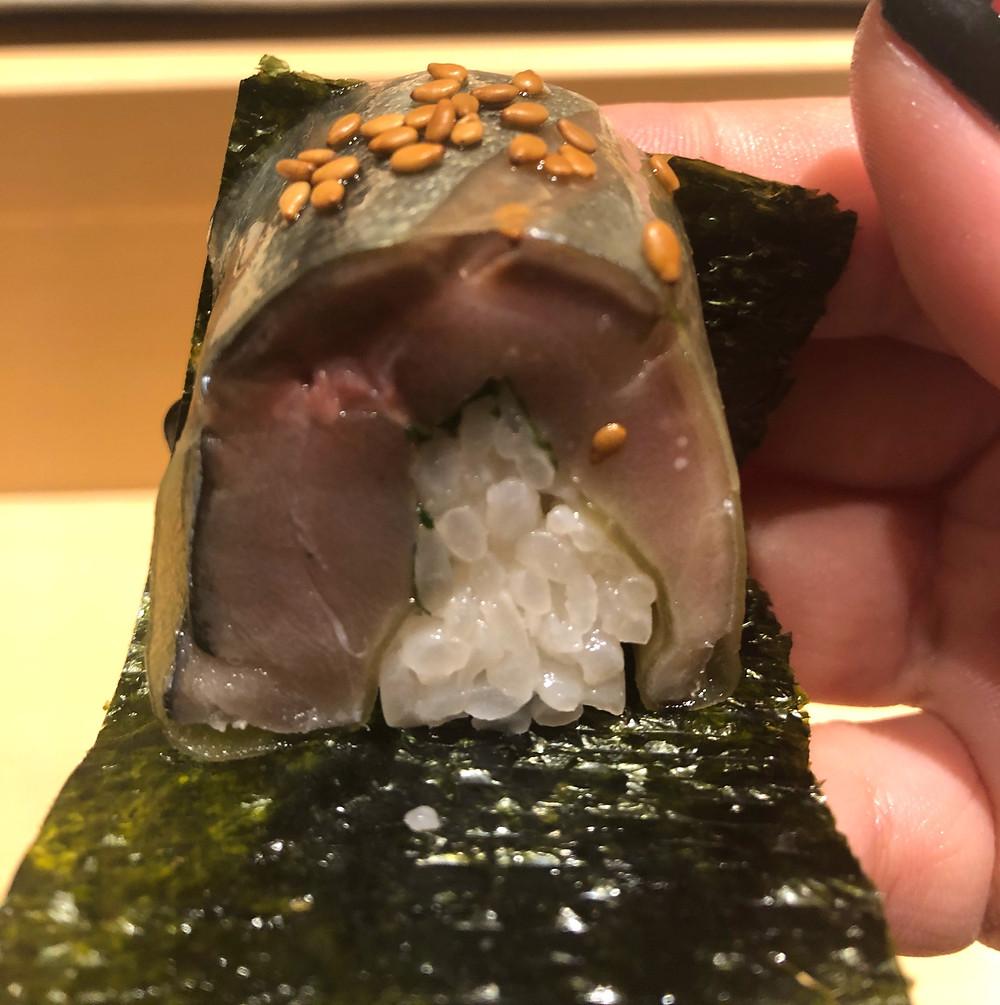 saba mackerel fish sushi