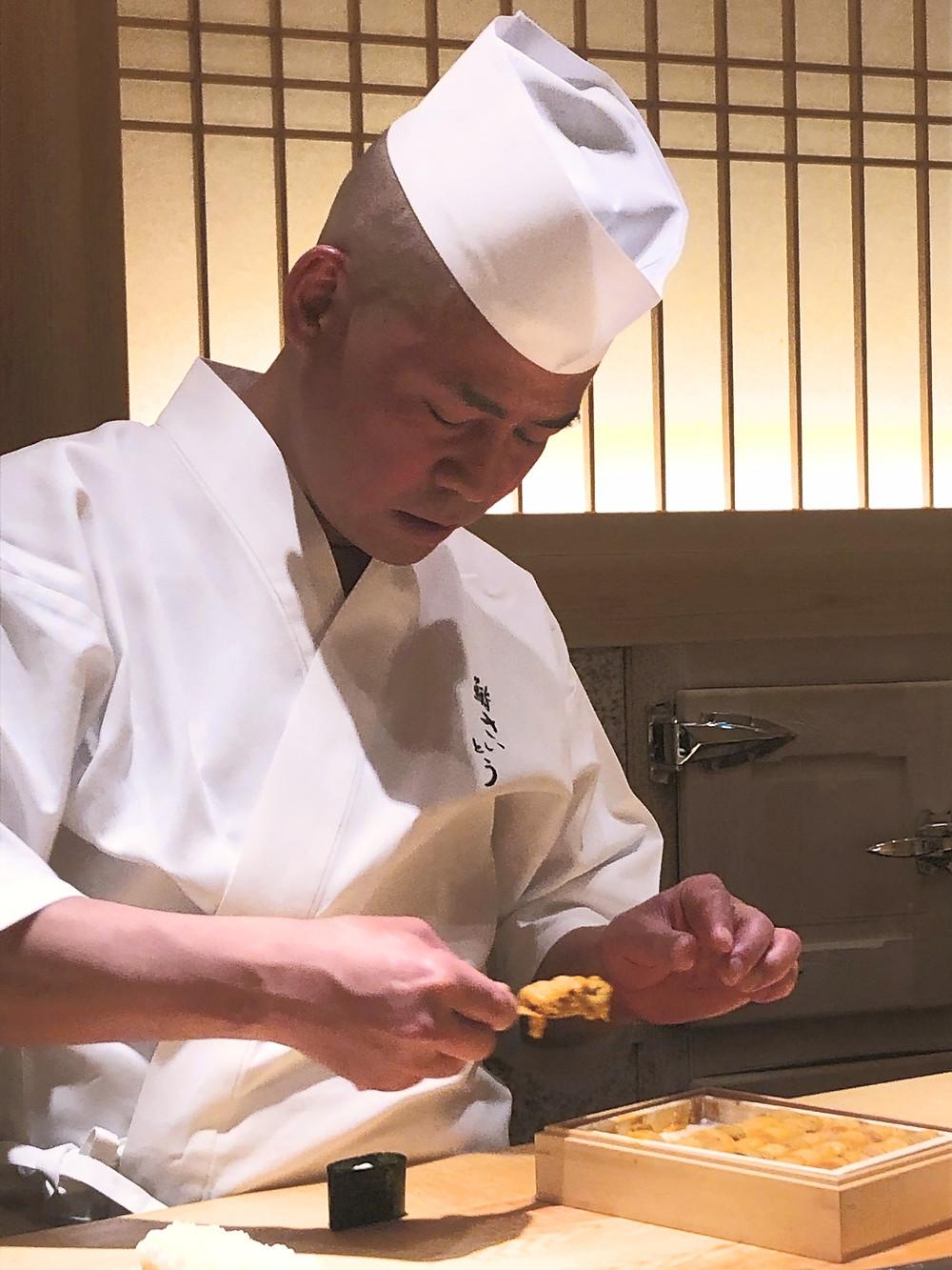 Sushi Saito uni sushi