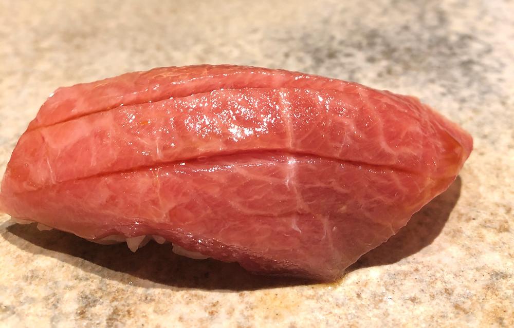 otoro tuna fish sushi