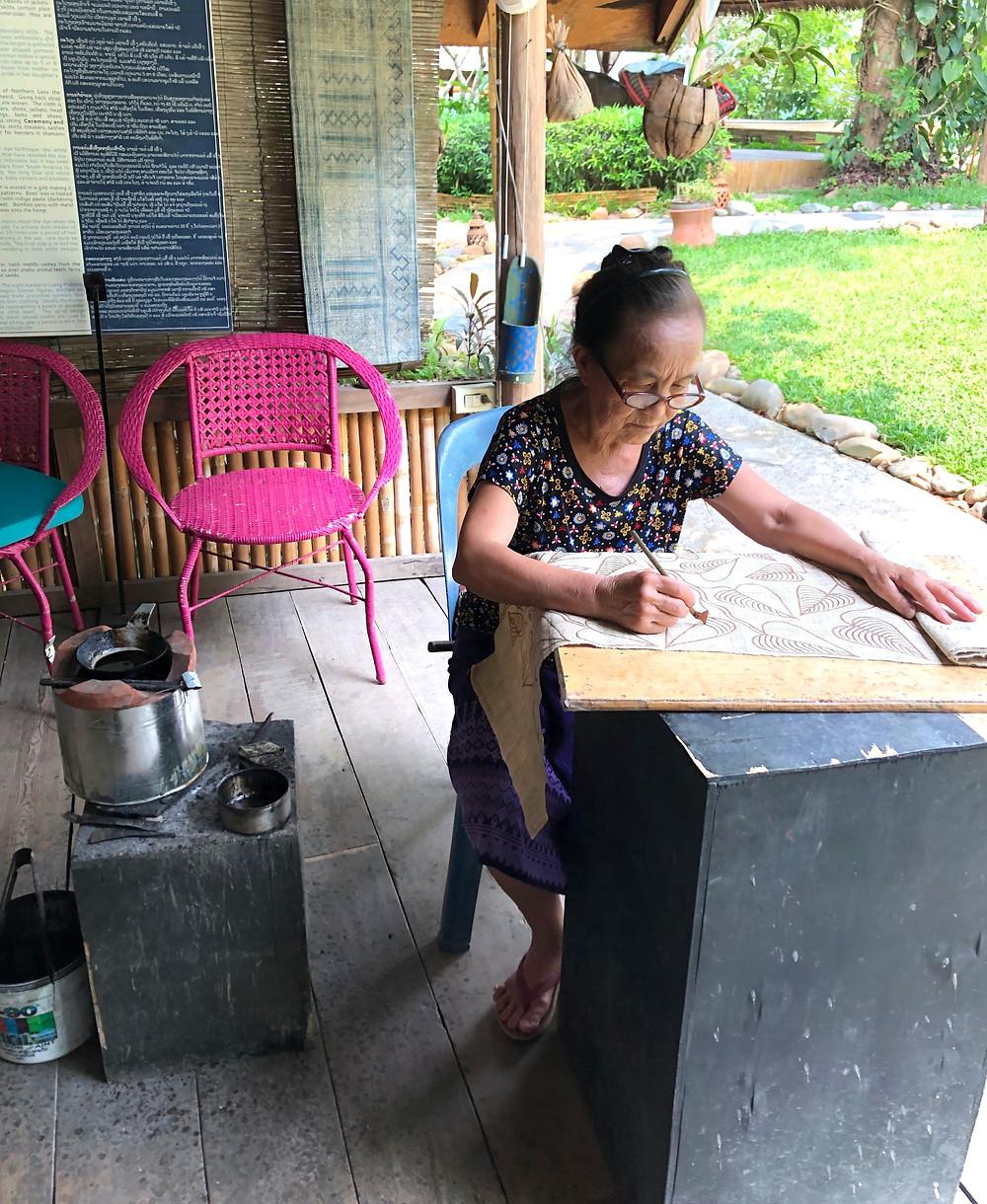 batik wax ock pop tok opt luang prabang laos