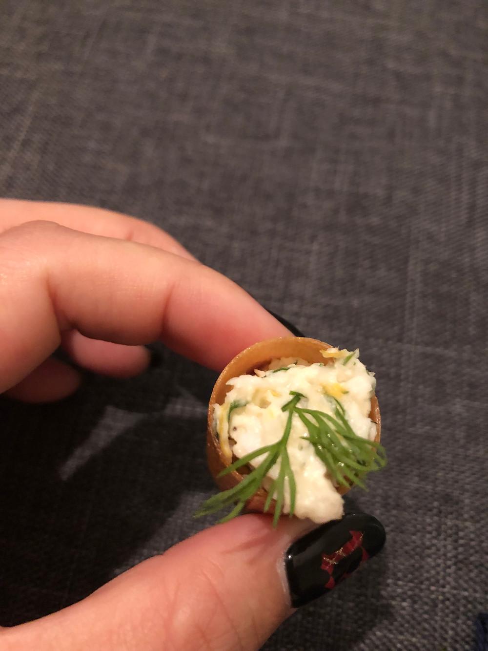 Local snapper cannoli