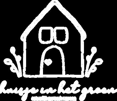 Huisje in hte groen logo wit dikke lijn.
