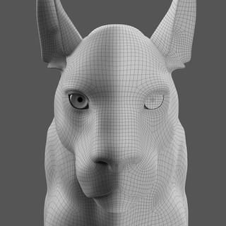 Panther Portrait Wireframe