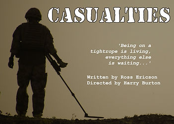 Casualties, Park Theatre 2013, Grist to the Mill, Ross Ericson