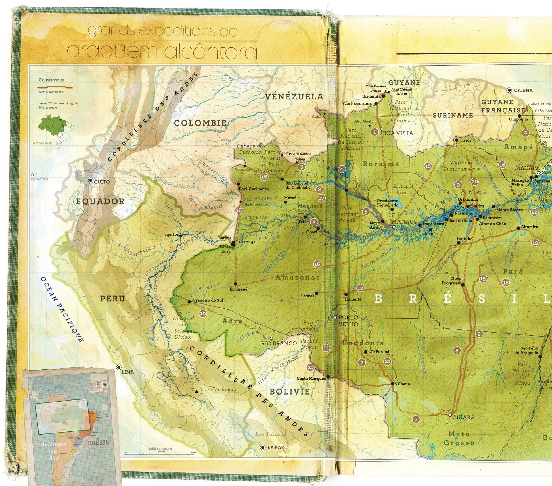 Percursos de Araquém Alcântara na Amazônia