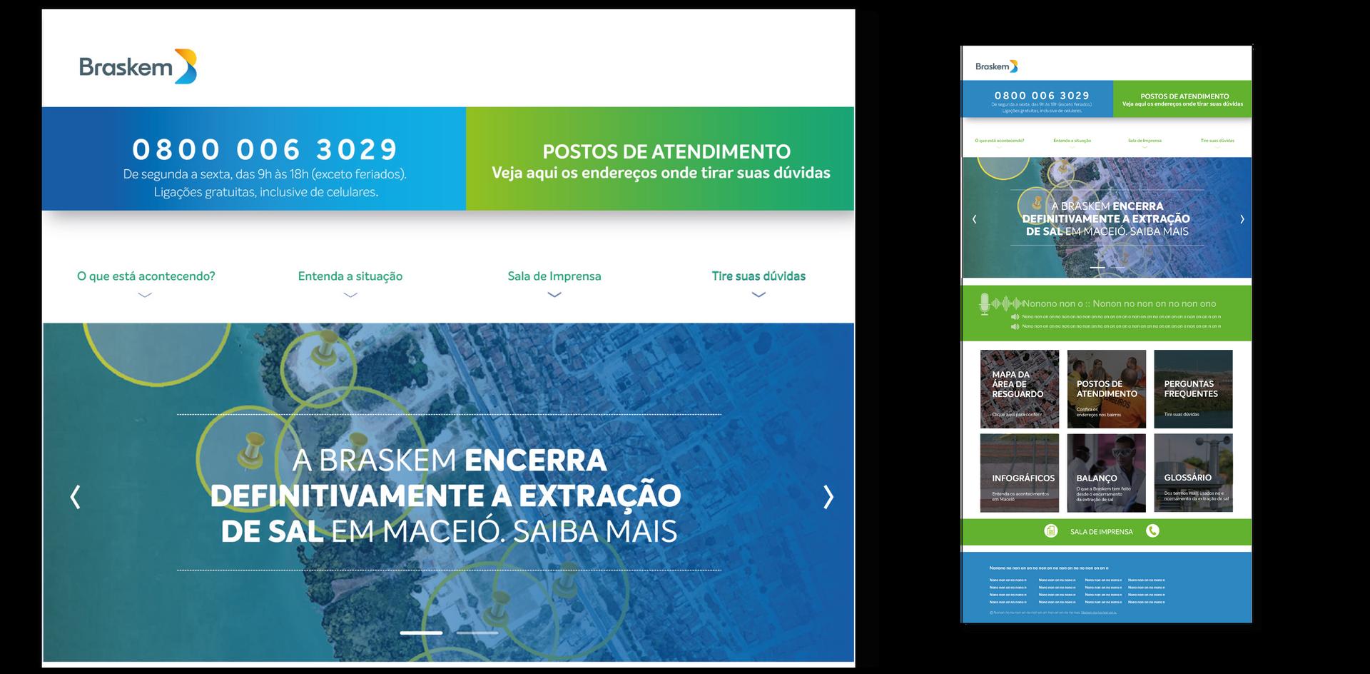 Site Braskem Alagoas