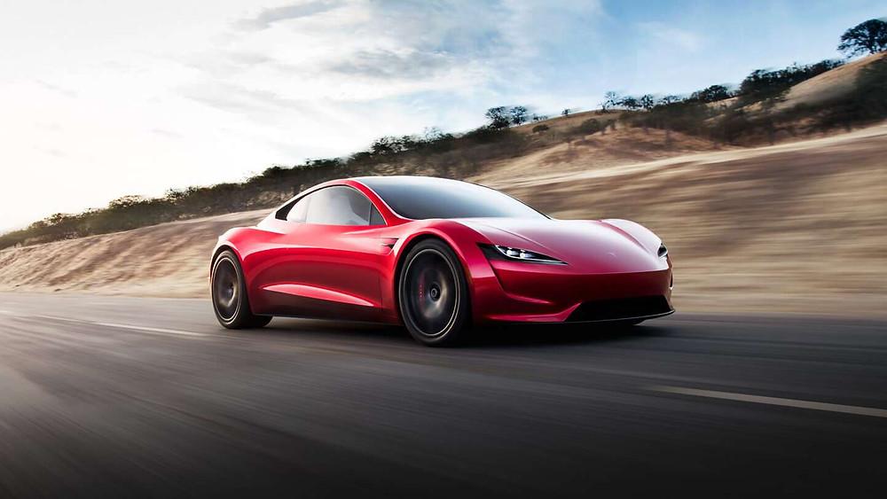 O Tesla Roadster é uma dos modelos elétricos mais caros e luxuosos que serã lançados em 2020