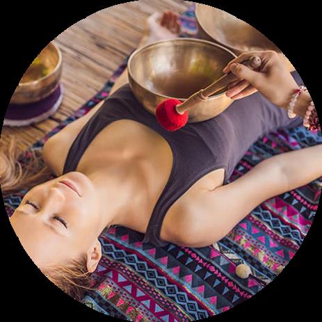 Massage aux bols sonores