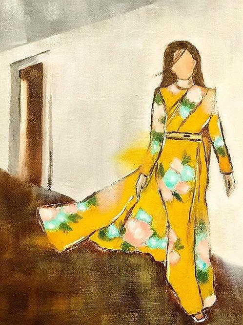 Yellow Saree