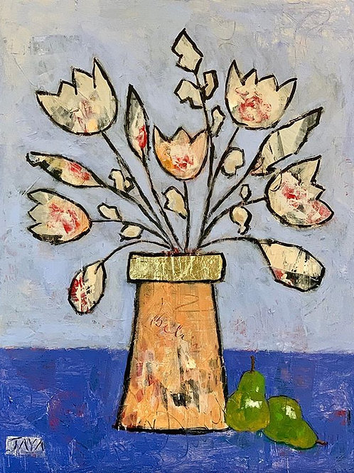 """Two Pears and a Vase 24""""x30"""""""