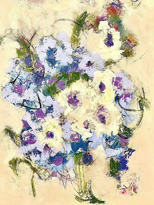 """Blue Bouquet 18""""x24"""""""
