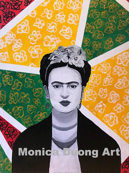 Frida Black and White Print