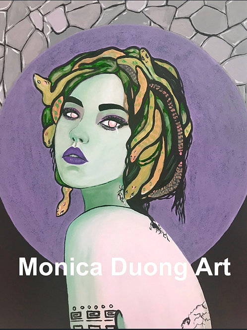 Medusa (Purple Moon) Print