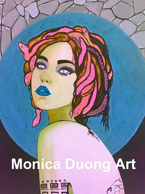 Medusa (Blue Moon) Print