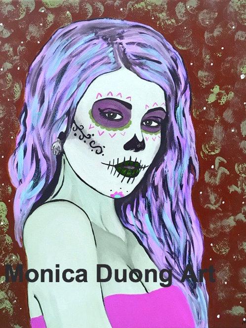 Sugar Girl (purple) print
